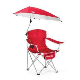 Cadeira Dobrável com Guarda Sol Vermelho – Sport Brella Chair Red SKLZ