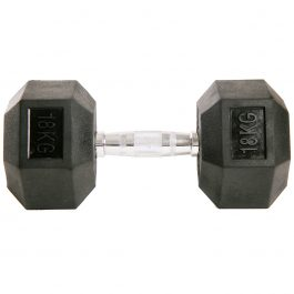 Dumbell Hex Rubber 18Kg GEARS