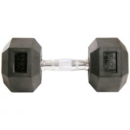 Dumbell Hex Rubber 12Kg GEARS