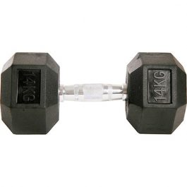 Dumbell Hex Rubber 14Kg GEARS