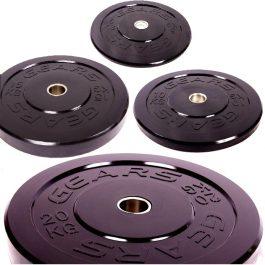 KIT – Anilhas Bumper GEARS – Par de 5kg a 20kg